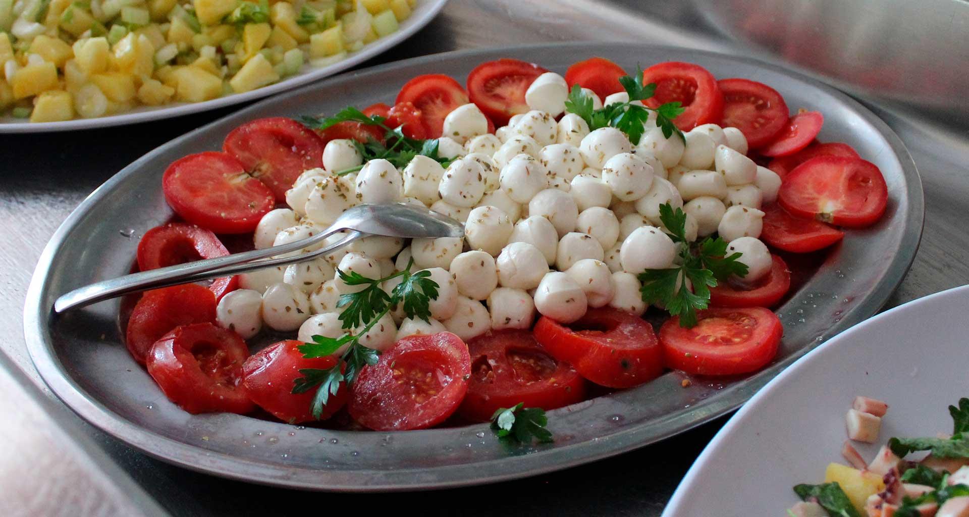 Mozzarelle con-pomodori